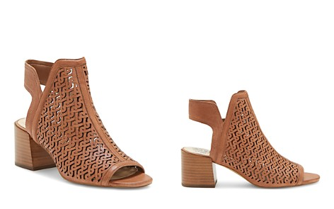 VINCE CAMUTO Women's Sternat Laser-Cut Stacked Heel Sandals - Bloomingdale's_2