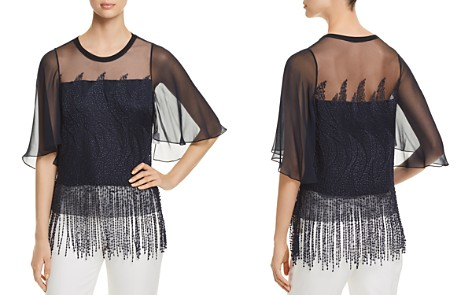 Elie Tahari Noreen Embroidered Fringe Blouse - Bloomingdale's_2