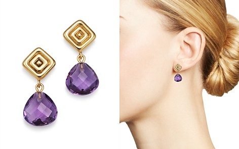 Bloomingdale's Amethyst Drop Earrings in 14K Yellow Gold - 100% Exclusive _2