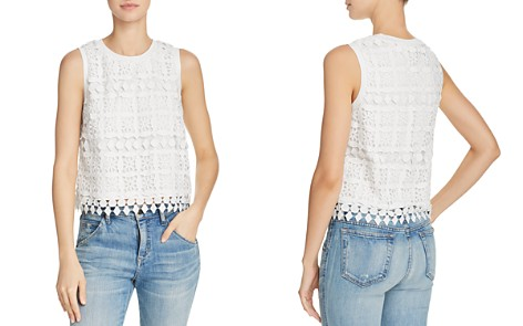 Lucy Paris Sleeveless Lace Top - Bloomingdale's_2