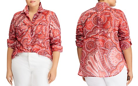 Lauren Ralph Lauren Plus Paisley Button-Down Top - Bloomingdale's_2