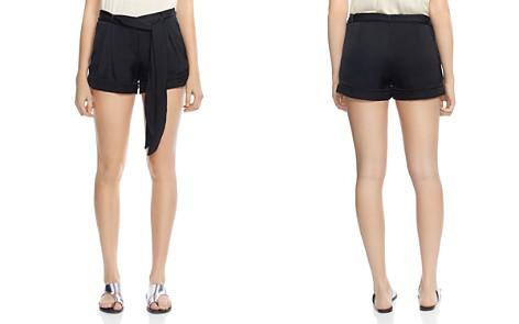 HALSTON HERITAGE Tie-Waist Satin Shorts - Bloomingdale's_2