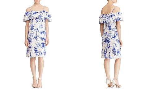 Lauren Ralph Lauren Cold-Shoulder Floral Crepe Dress - Bloomingdale's_2