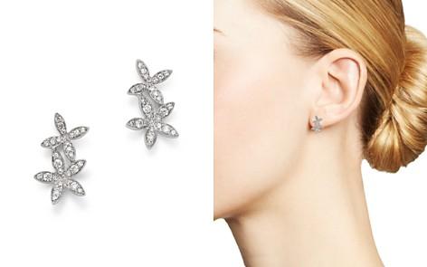 KC Designs 14K White Gold Double Flower Diamond Earrings - Bloomingdale's_2