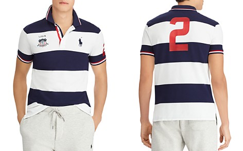 Polo Ralph Lauren Striped Custom Slim Fit Mesh Polo Shirt - Bloomingdale's_2
