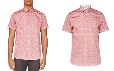 Ted Baker Palmgo Palm Leaf Line Print Regular Fit Button-Down Shirt - Bloomingdale's_2