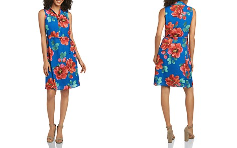 Foxcroft Floral-Print Drawstring Shirt Dress - Bloomingdale's_2