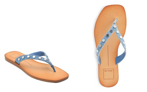 Dolce Vita Women's Clyde Studded Denim Thong Sandals - Bloomingdale's_2