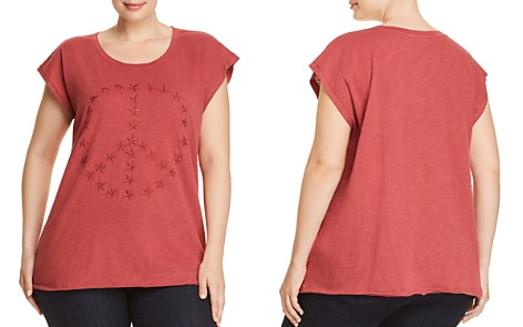 Lucky Brand Plus Star Embroidered Peace Top - Bloomingdale's_2