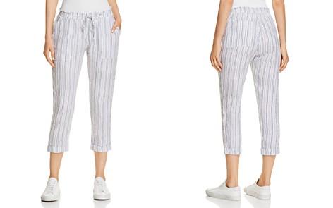 Three Dots Striped Linen Crop Pants - Bloomingdale's_2