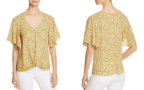 Status by Chenault Floral Twist-Front Top - Bloomingdale's_2