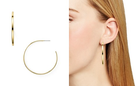 AQUA Modern Thin Hoop Earrings - 100% Exclusive - Bloomingdale's_2