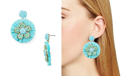AQUA Raffia Floral Drop Earrings - 100% Exclusive - Bloomingdale's_2