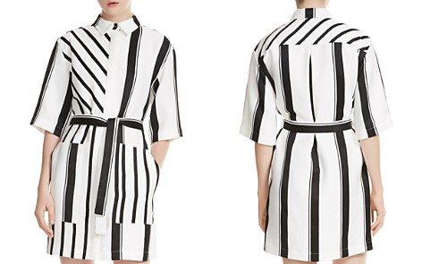 Maje Ronson Striped Belted Shirt Dress - Bloomingdale's_2