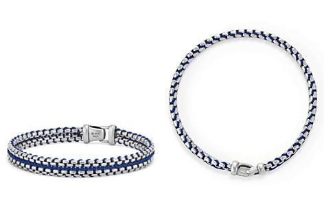 David Yurman Woven Box Chain Bracelet in Blue - Bloomingdale's_2