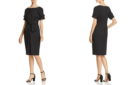 Donna Karan New York Ruched Tie-Front Dress - Bloomingdale's_2