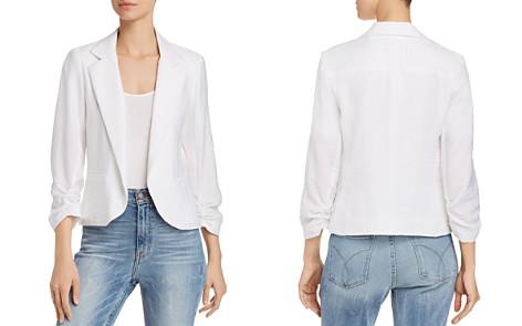 AQUA Ruched Sleeve Open-Front Blazer - 100% Exclusive - Bloomingdale's_2