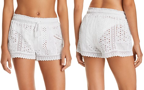 Polo Ralph Lauren Eyelet Cotton Swim Cover-Up Shorts - Bloomingdale's_2