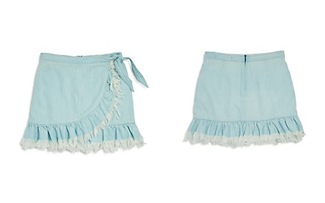 BLANKNYC Girls' Frayed & Ruffled Faux Wrap Skirt - Big Kid - Bloomingdale's_2