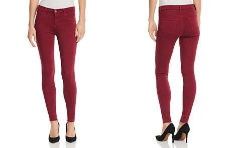 J Brand 620 Mid Rise Super Skinny Jeans in Deep Plum - Bloomingdale's_2