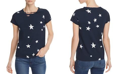 PAM & GELA Distressed Star Print Tee - 100% Exclusive - Bloomingdale's_2