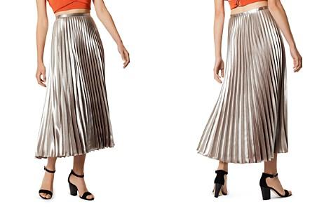 KAREN MILLEN Metallic Pleated Midi Skirt - Bloomingdale's_2