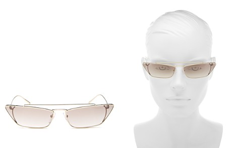 Prada Women's UltraVox Slim Brow Bar Cat Eye Sunglasses, 67mm - Bloomingdale's_2