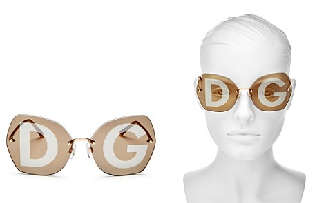 Dolce&Gabbana Women's Lucia Mirrored Oversized Round Sunglasses, 64mm - Bloomingdale's_2