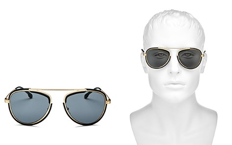 Versace Men's Brow Bar Aviator Sunglasses, 42mm - Bloomingdale's_2