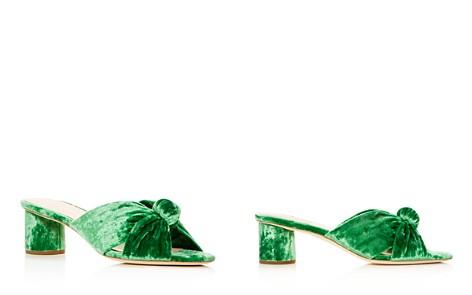 Loeffler Randall Women's Celeste Velvet Knot Mid Heel Slide Sandals - Bloomingdale's_2