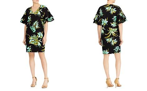 Lauren Ralph Lauren Ponte Tropical-Print Flutter-Sleeve Shift Dress - Bloomingdale's_2