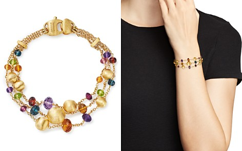 Marco Bicego 18K Yellow Gold Africa Color Multi Gemstone Triple Strand Bracelet - 100% Exclusive - Bloomingdale's_2