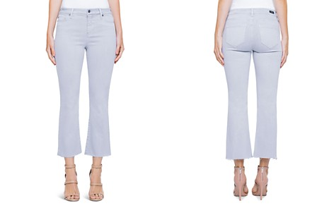 Liverpool Hannah Crop Flare Jeans in Fossil Gray - Bloomingdale's_2