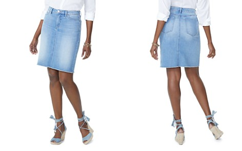 NYDJ Frayed Hem Denim Pencil Skirt Dreamstate - Bloomingdale's_2