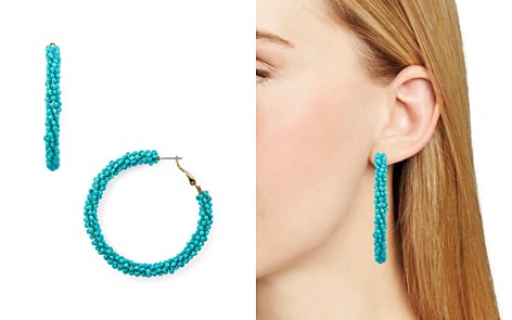 AQUA Beaded Hoop Earrings - 100% Exclusive - Bloomingdale's_2