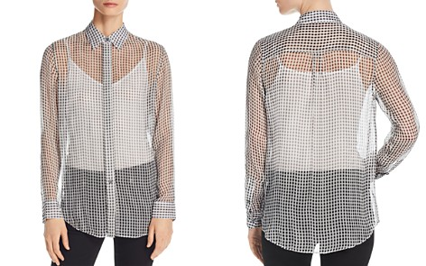 Theory Essential Sheer Silk Shirt - Bloomingdale's_2