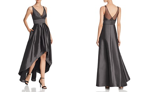 Aidan Mattox High/Low Taffeta Gown - 100% Exclusive - Bloomingdale's_2