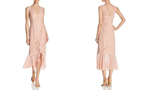 Aidan by Aidan Mattox Chiffon-Trimmed Lace Dress - Bloomingdale's_2