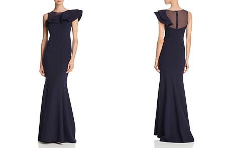Eliza J Asymmetric Ruffled Crepe Gown - Bloomingdale's_2