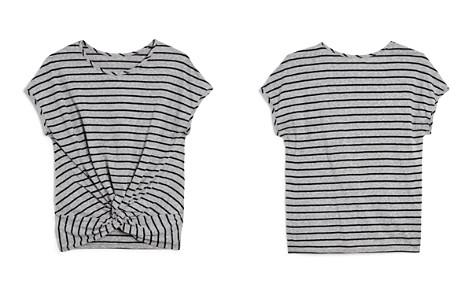 AQUA Girls' Striped Twist-Front Tee, Big Kid - 100% Exclusive - Bloomingdale's_2