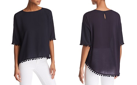 FRENCH CONNECTION Crepe Pom-Pom Top - Bloomingdale's_2