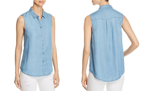 BeachLunchLounge Chambray Sleeveless Button-Down Top - Bloomingdale's_2