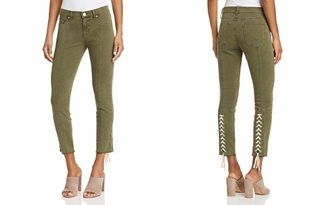Hudson Nico Lace-Up Cropped Skinny Pants in Crushed Olive - Bloomingdale's_2