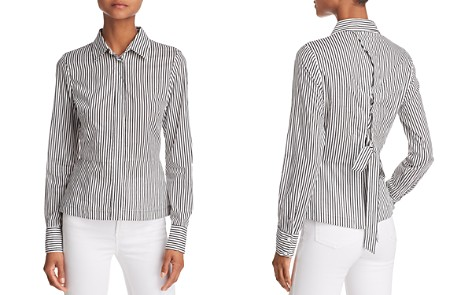 Bailey 44 Spell On You Lace-Up Back Striped Shirt - Bloomingdale's_2