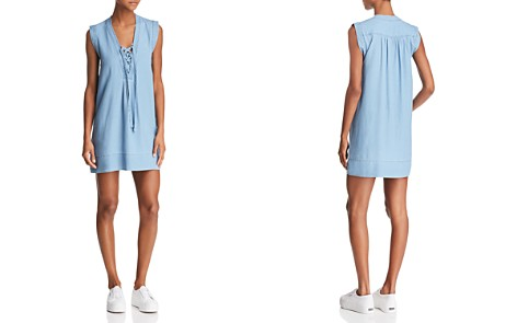 Splendid Lace-Up Shift Dress - Bloomingdale's_2