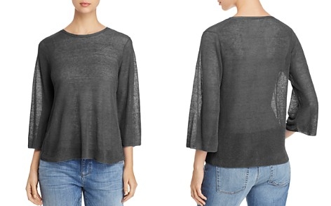Eileen Fisher Petites Semi-Sheer Knit Top - Bloomingdale's_2