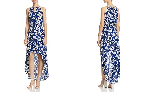 AQUA Floral Print High/Low Maxi Dress - 100% Exclusive - Bloomingdale's_2