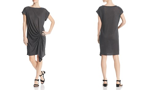 Kenneth Cole Draped Linen T-Shirt Dress - Bloomingdale's_2