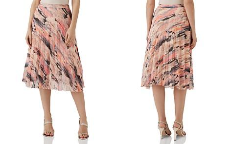 REISS Harriet Pleated Blur-Print Skirt - Bloomingdale's_2