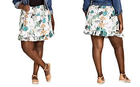 City Chic Plus Jungle Study Ruffle Skirt - Bloomingdale's_2